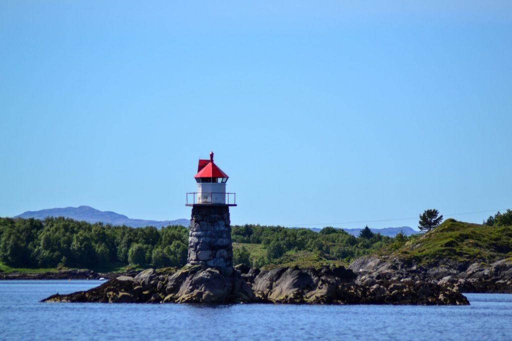 Leka Camping Hafen Leuchtturm